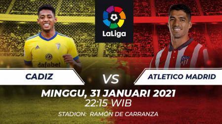 Link Live Streaming LaLiga Spanyol: Cadiz vs Atletico Madrid, - INDOSPORT