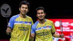 Indosport - Hasil Bulutangkis Olimpiade Tokyo 2020: Ahsan/Hendra Tumbangkan Malaysia.