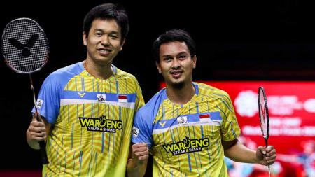 Pasangan ganda putra Indonesia, Mohammad Ahsan/Hendra Setiawan. - INDOSPORT