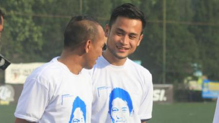 Pemain PSKC Cimahi, Muhamamd Agung Pribadi (kanan). - INDOSPORT