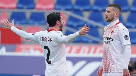 Selebrasi gol Ante Rebic di Laga Serie A Italia Bologna vs AC Milan - INDOSPORT