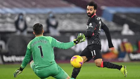 Berikut hasil pertandingan Liga Inggris antara West Ham vs Liverpool. Tak Ada Sadio Mane, Mohamed Salah tampil tajam membawa The Reds menang dan masuk 3 besar. - INDOSPORT