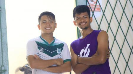 Mantan pemain PSMS Medan di Liga 2 2019 lalu, Natanael Siringoringo (kiri) dan Ilham Fathoni (kanan). - INDOSPORT