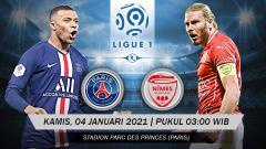 Indosport - Berikut prediksi pertandingan Ligue 1 Prancis yang menampilkan laga menarik antara Paris Saint-Germain (PSG) vs Nimes di Parc des Princes, Kamis (04/02/21).