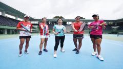 Indosport - Yura Yunita dan Timnas Tenis Indonesia.
