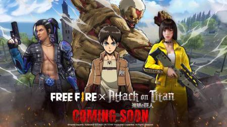 Garena Free Fire merilis kolaborasi dengan serial anime populer Attack on Titan. - INDOSPORT