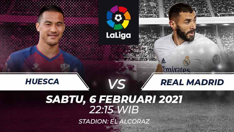 Link Live Streaming Laliga Spanyol: Huesca vs Real Madrid