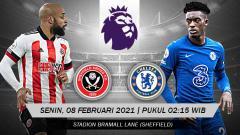 Indosport - Pertandingan Sheffield United vs Chelsea (Liga Inggris).