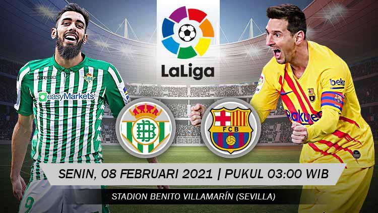 Link Live Streaming LaLiga Spanyol: Real Betis vs Barcelona