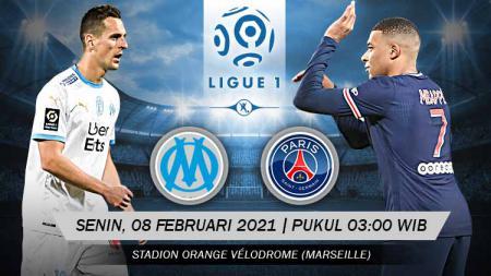 Pertandingan Olympique de Marseille vs Paris Saint-Germain (Ligue 1). - INDOSPORT