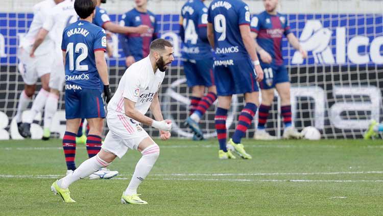 Hasil LaLiga Huesca vs Real Madrid: Brace Varane Bawa Los Blancos Menang