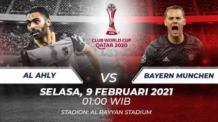 Link Streaming Piala Dunia Antarklub 2020: Al Ahly vs Bayern Munchen - INDOSPORT