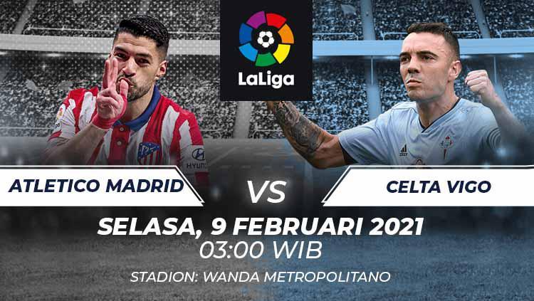 Prediksi Pertandingan LaLiga Spanyol Atletico Madrid vs Celta Vigo: Laga Mudah Los Rojiblancos