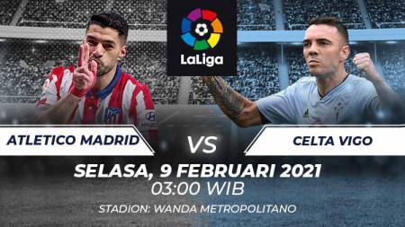 Berikut link live streaming pertandingan pekan ke-22 LaLiga Spanyol 2020/2021 antara Atletico Madrid vs Celta Vigo, Selasa (08/02/21) pukul 03:00 dini hari WIB. - INDOSPORT