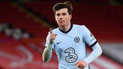 Indosport - Selebrasi gol Mason Mount di laga Sheffield United vs Chelsea.