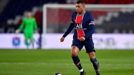 Striker PSG, Kylian Mbappe, yang juga pemain termahal di babak 16 besar Liga Champions 2020/2021 - INDOSPORT