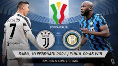 Indosport - Prediksi pertand leg kedua semifinal Coppa Italia 2020-2021 yang mempertemukan Juventus vs Inter Milan di Stadion Allianz Arena, Rabu (10/02/21).