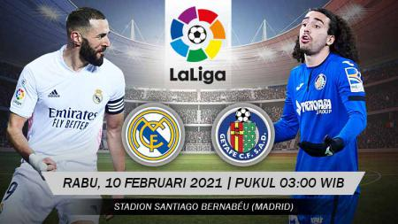 Pertandingan Real Madrid vs Getafe (LaLiga). - INDOSPORT