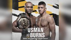 Indosport - Duel Kamaru Usman vs Gilbert Burns di UFC 258.