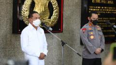 Indosport - Menpora Zainudin Amali bertemu Kapolri jenderal polisi Listyo Sigit Prabowo.