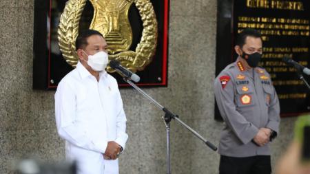 Menpora Zainudin Amali bertemu Kapolri jenderal polisi Listyo Sigit Prabowo. - INDOSPORT