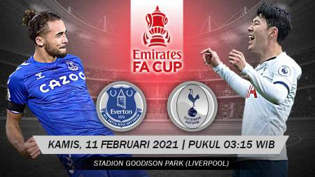 Pertandingan Everton vs Tottenham Hotspur (FA Cup). - INDOSPORT