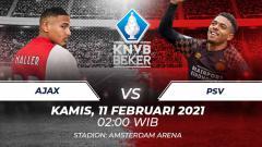 Indosport - Link Live Streaming Perempat Final KNVB Cup: Ajax Amsterdam vs PSV Eindhoven.