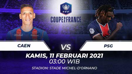 Caen vs PSG. - INDOSPORT