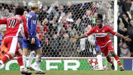 Pemandangan pertandingan Liga Inggris antara Middlesbrough kontra Chelsea, 11 Februari 2006. - INDOSPORT