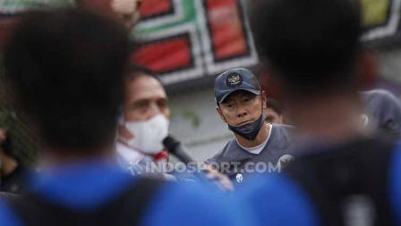 Pemaparan Ketum PSSI Mochamad Iriawan di hadapan skuat Timnas Indonesia untuk SEA Games 2021. Iwan Bule menargetkan Timnas bisa meraih medali emas.