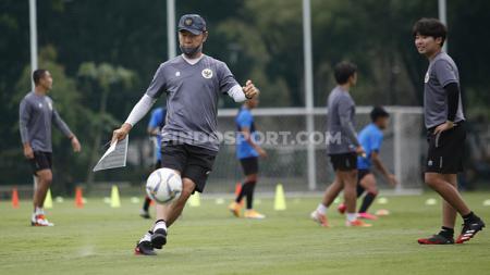Pelatih Timnas Indonesia, Shin Tae-yong. - INDOSPORT