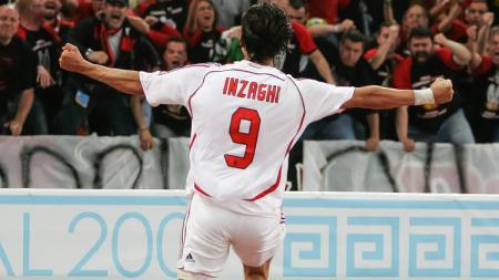 Selebrasi striker legendaris AC Milan, Filippo Inzaghi. - INDOSPORT