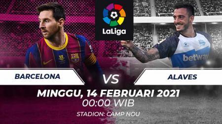 Berikut prediksi pertandingan LaLiga Spanyol 2020/21 pekan ke-23 di mana Barcelona akan menjamu Alaves pada hari Minggu (14/02/21) dini hari WIB. - INDOSPORT