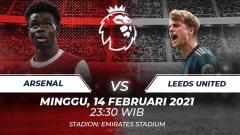 Indosport - Prediksi pertandingan Liga Inggris Arsenal vs Leeds United, Minggu (14/02/21).
