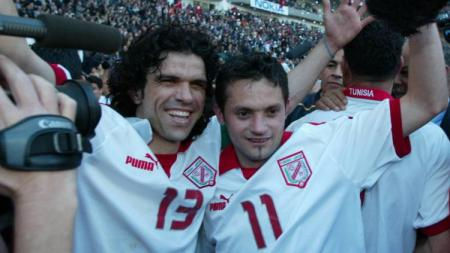 Selebrasi Tunisia usai memastikan gelar juara Piala Afrika, 14 Februari 2004. - INDOSPORT