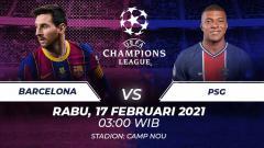 Indosport - Barcelona akan menjamu Paris Saint-Germain di leg 1 babak 16 besar Liga Champions, pekan ini. Seperti starting XI yang terbentuk jika kedua tim digabungkan?