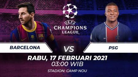 Barcelona akan menjamu Paris Saint-Germain di leg 1 babak 16 besar Liga Champions, pekan ini. Seperti starting XI yang terbentuk jika kedua tim digabungkan? - INDOSPORT