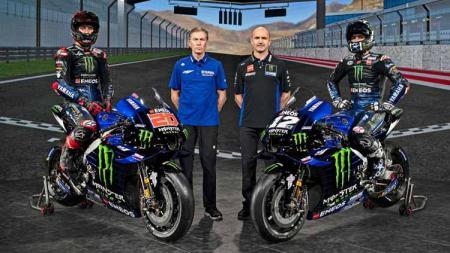 Tampilan livery dan line-up baru tim pabrikan Yamaha di MotoGP 2021 - INDOSPORT