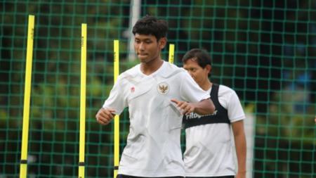 Pemain Timnas Indonesia U-23, Salman Alfarid. - INDOSPORT