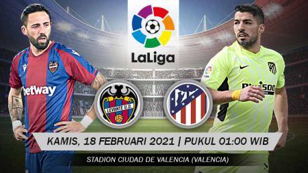 Berikut link live streaming pertandingan LaLiga Spanyol antara Levante vs Atletico Madrid. - INDOSPORT