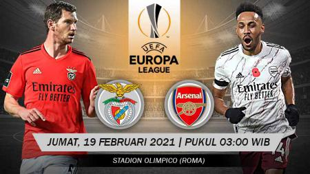 Pertandingan Benfica vs Arsenal (Liga Europa). - INDOSPORT