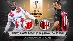 Indosport - AC Milan akan menjalani ujiannya di Liga Europa 2020/21 dengan bertandang ke markas raksasa Serbia, Red Star Belgrade (Crvena Zvezda), Jumat (19/02/21) dini hari WIB.