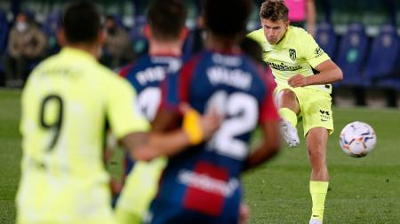 Berikut adalah hasil pertandingan tunda pekan ke-2 LaLiga Spanyol antara Levante vs Atletico Madrid yang berakhir dengan hasil imbang untuk kedua tim. - INDOSPORT