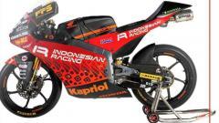 Indosport - Nuansa batik di livery terbaru Indonesian Racing Team Gresini Moto3 untuk Moto3 2021