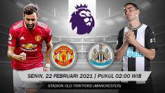 Indosport - Berikut prediksi untuk pertandingan Liga Inggris antara Manchester United vs Newcastle United yang digelar Senin (22/02/21) pukul 02.00 WIB.