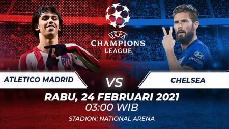 Atletico Madrid akan menghadapi Chelsea di leg 1 babak 16 besar Liga Champions, Rabu (24/02/21) dini hari. Berikut duel antarlini yang akan tersaji di laga itu. - INDOSPORT