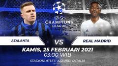 Indosport - Berikut ini kami rangkum tiga hal yang bisa menggagalkan usaha Real Madrid untuk mengalahkan Atalanta di  babak 16 besar Liga Champions.