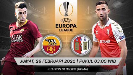 Pertandingan AS Roma vs Sporting Braga (Liga Europa). - INDOSPORT