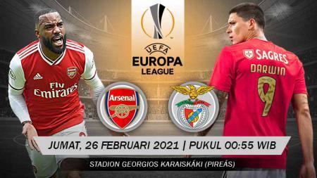 Link Live Streaming Pertandingan Liga Europa: Arsenal vs Benfica. - INDOSPORT