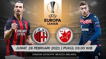 Pertandingan AC Milan vs Crvena Zvezda (Liga Europa). - INDOSPORT